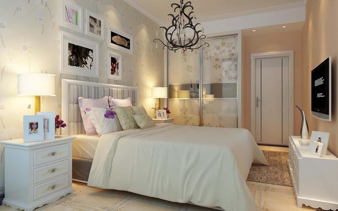 晚上女生家庭卧室照片