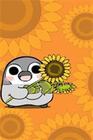 pesoguin是一个假想的可爱的动物类似于一个皇帝企鹅的宝贝,这是非常