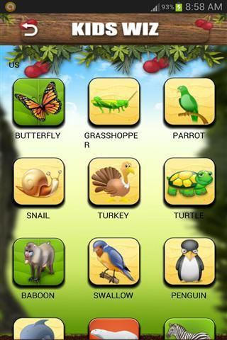 它有许多美丽的动物,水果,字母和数字插图与清楚的发音和声音.