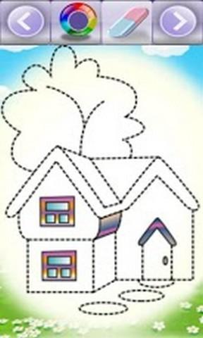 房子虚线简笔画