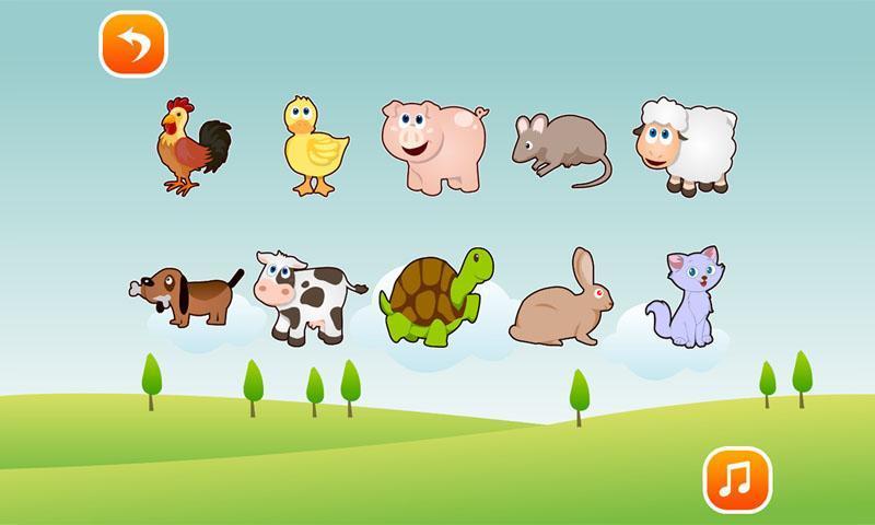 宝宝幼儿早教应用,让宝宝在玩的时候认识动物,学会识别